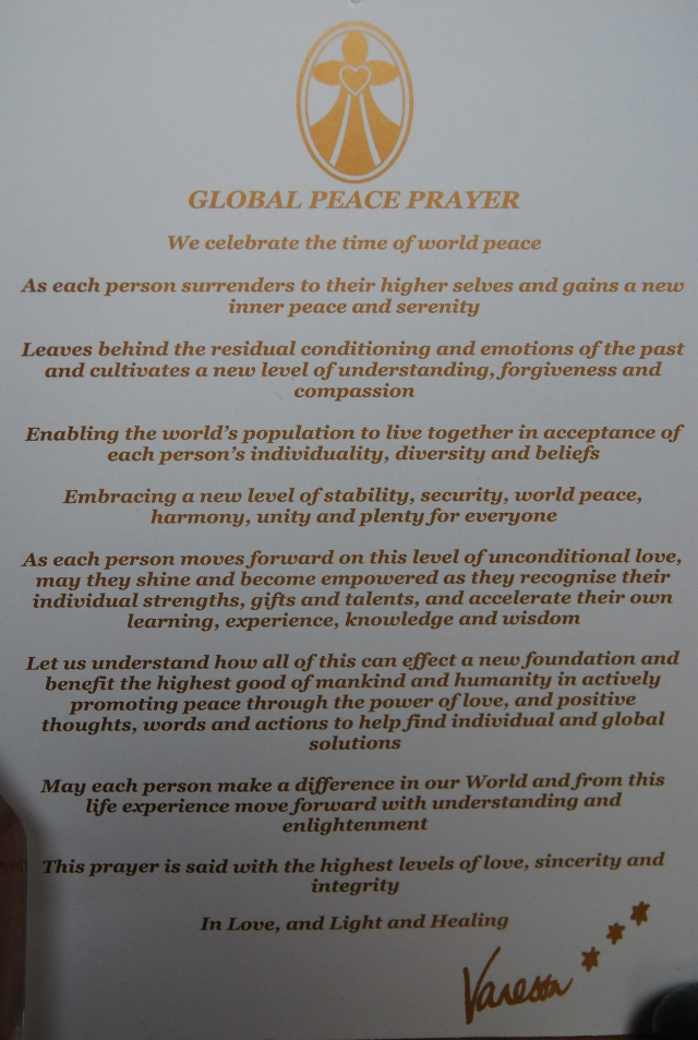 Global Peace Prayer